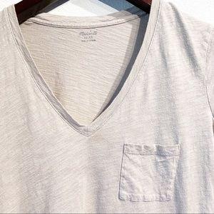 Madewell Tops - Madewell | Whisper Cotton V-Neck Pocket Tee Sz XS
